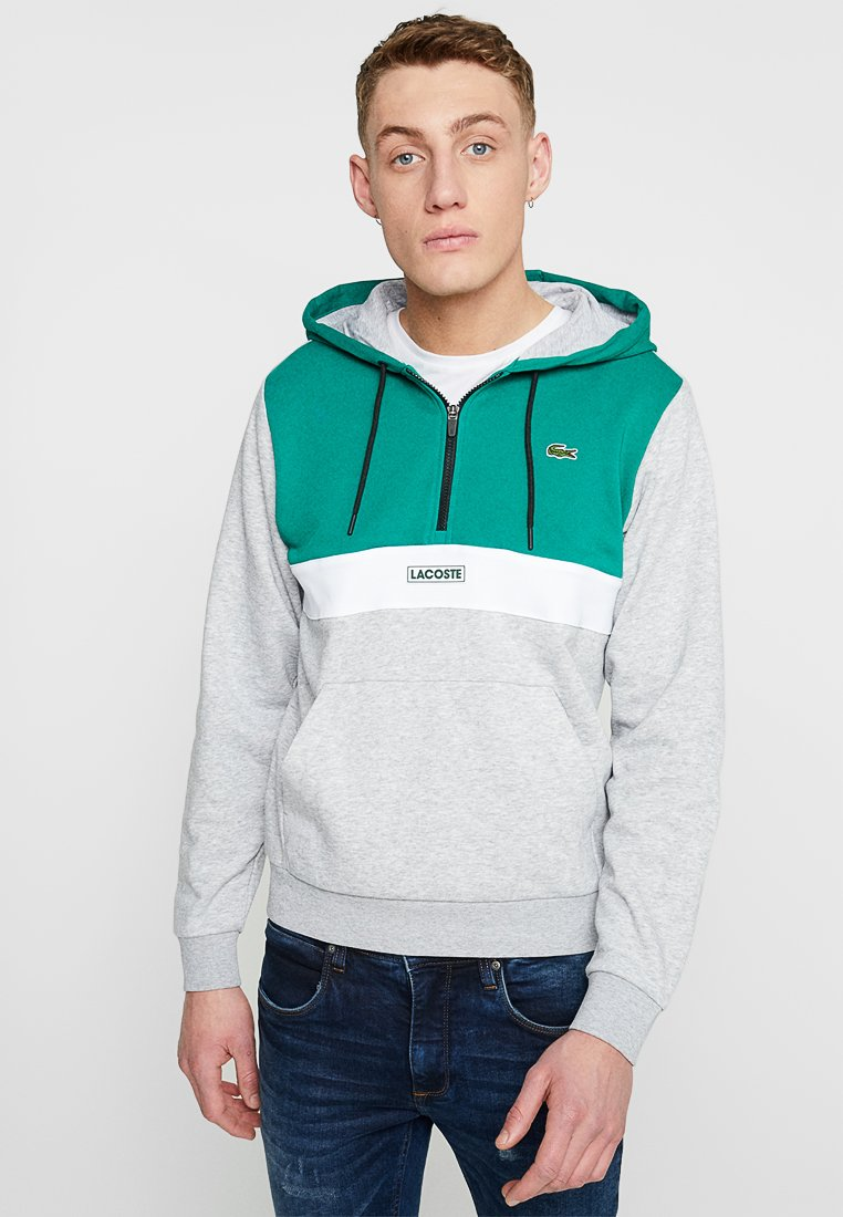 Lacoste - SH3505 - Hoodie - woodland green/silver/chine white