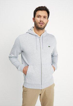 Zip-up hoodie - argent chine