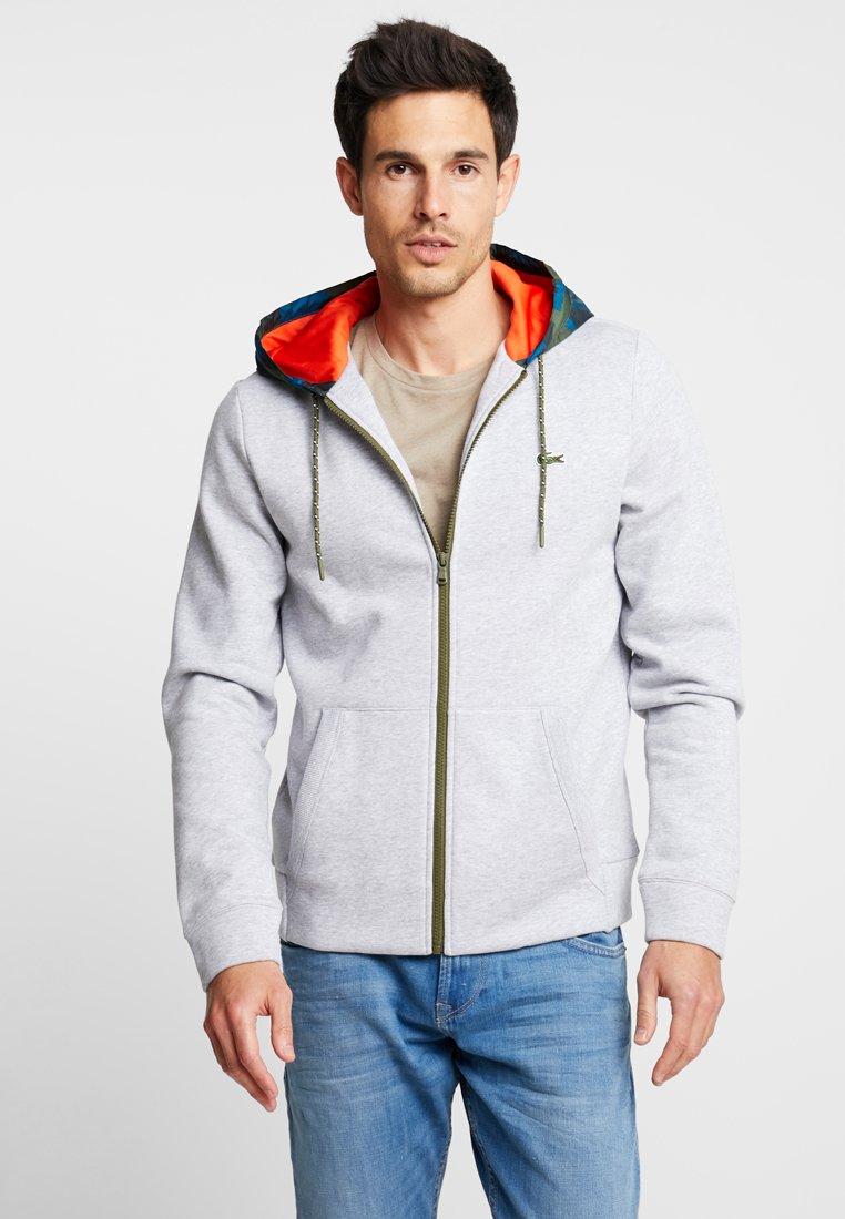 Lacoste - Zip-up hoodie - argent chine/noir