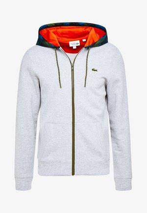 Zip-up hoodie - argent chine/noir