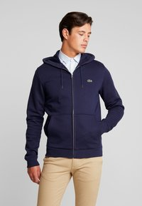 Lacoste - veste en sweat zippée - navy blue - 0