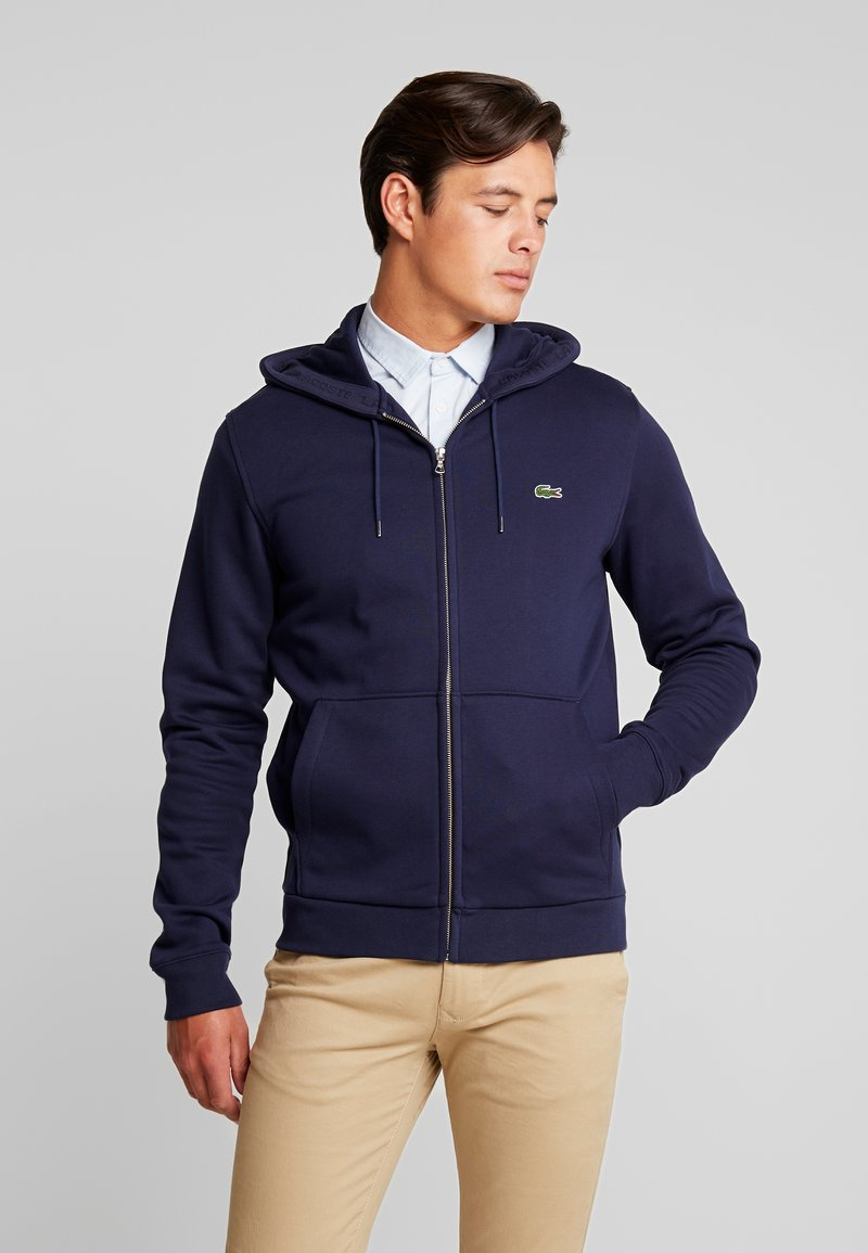 Lacoste - veste en sweat zippée - navy blue