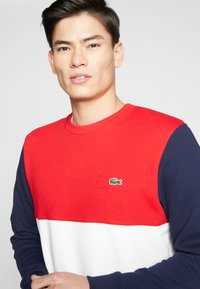 Lacoste - Sweater - farine/rouge/marine - 3