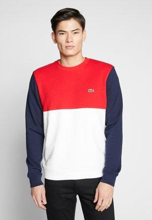 Sweatshirt - farine/rouge/marine