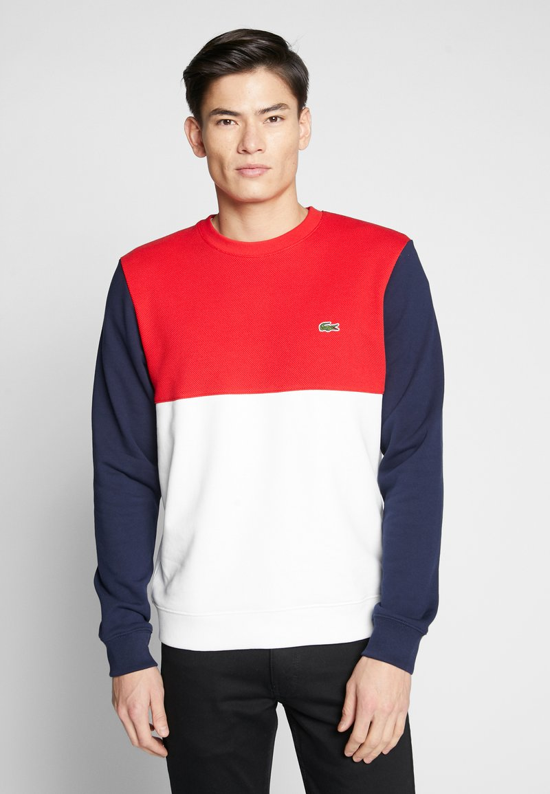 Lacoste - Sweater - farine/rouge/marine