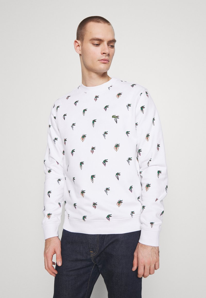 Lacoste - Unisex Lacoste x Jean-Michel Tixier Print Sweatshirt - Bluza - blanc
