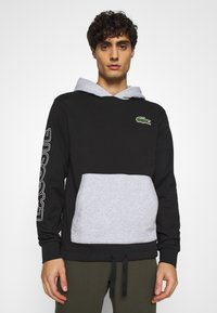 Lacoste - OUTLINE - Hoodie - noir/argent chine - 0
