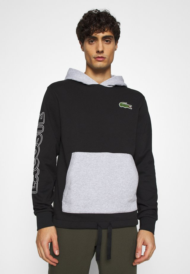 OUTLINE - Hoodie - noir/argent chine