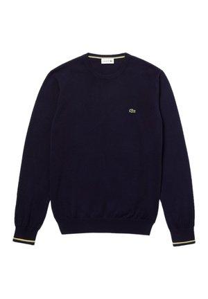 Sweatshirt - bleu marine / blanc