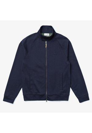 LACSH5159 - veste en sweat zippée - bleu marine / vert kaki