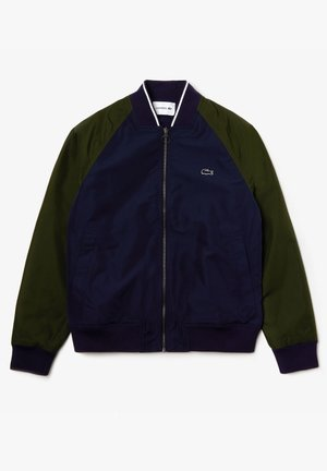Blouson Bomber - navy blau / khaki grün / navy blau