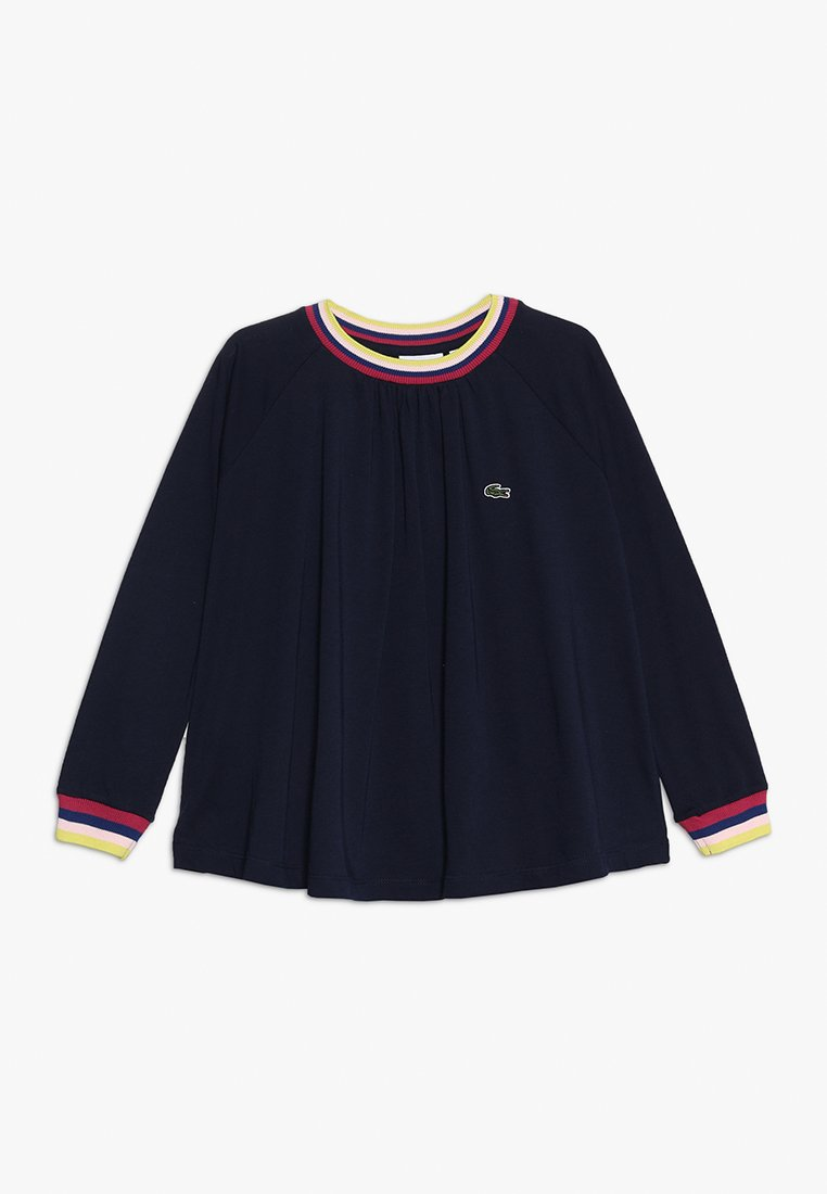 Lacoste - GIRL TEE - Long sleeved top - navy blue