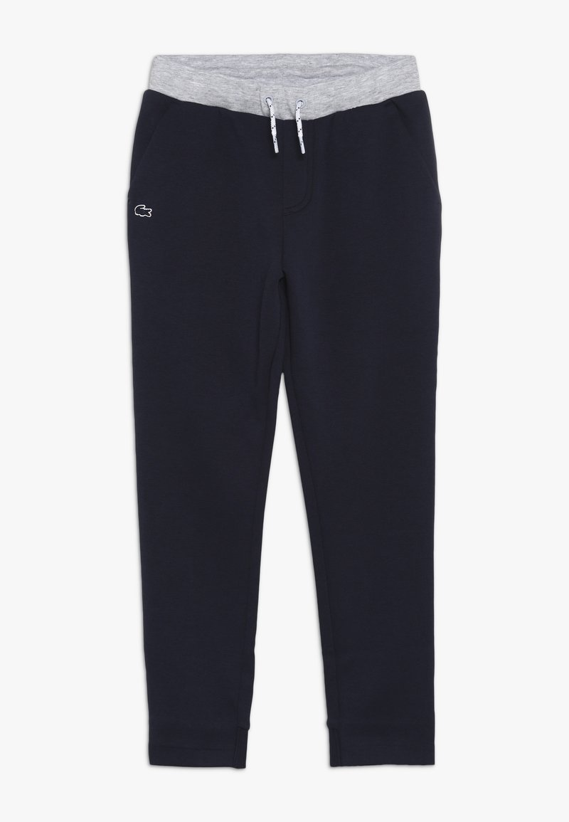 Lacoste - TRACKSUITS TRACK TROUSERS - Pantalones deportivos - marine/argent chine