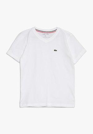 BOY V-NECK TEE - T-paita - blanc