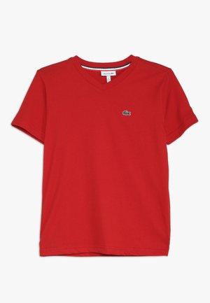 BOY V-NECK TEE - T-shirt basic - red