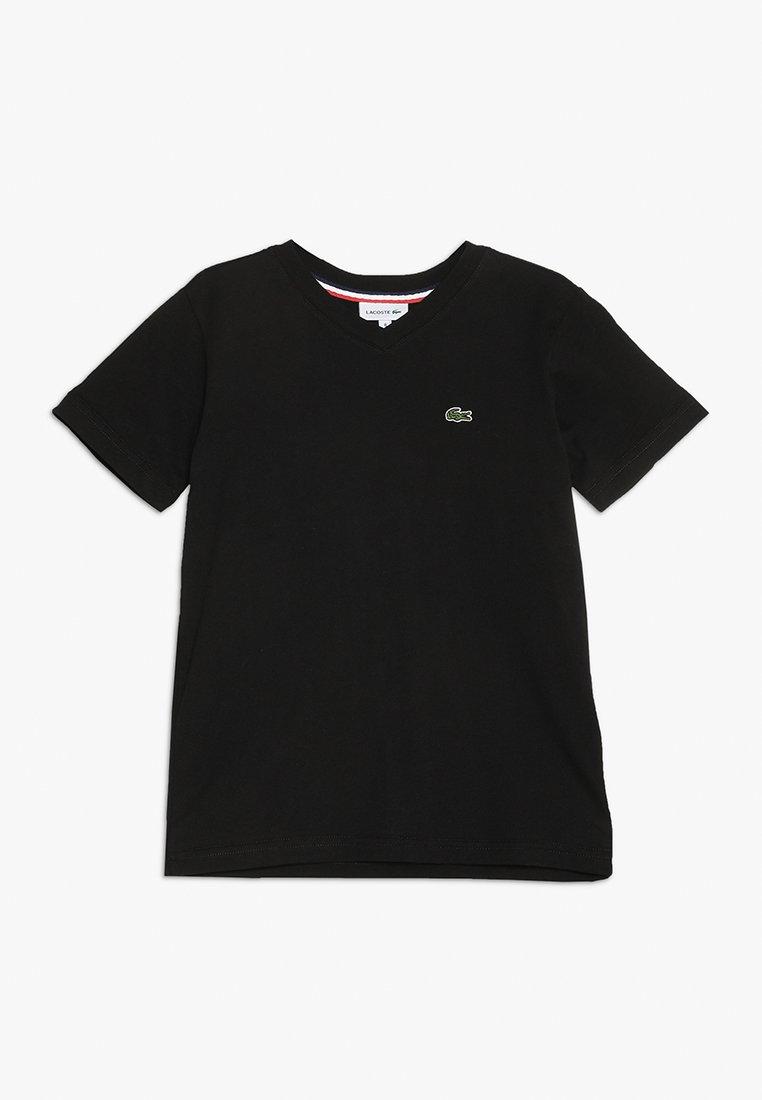 Lacoste - BOY V-NECK TEE - T-Shirt basic - noir