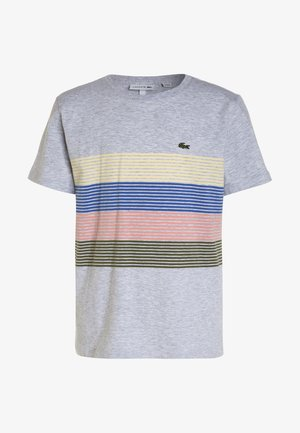 BOY TEE - T-shirt imprimé - silver chine/marsh elf pink/milos blue/napolitan yellow