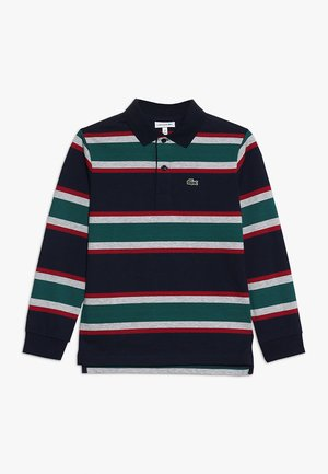 LONG SLEEVED COLLAR - Poloshirt - navy blue/multicolor
