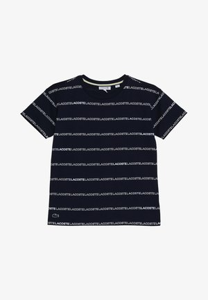 BOY TEE - T-shirt print - navy blue/white