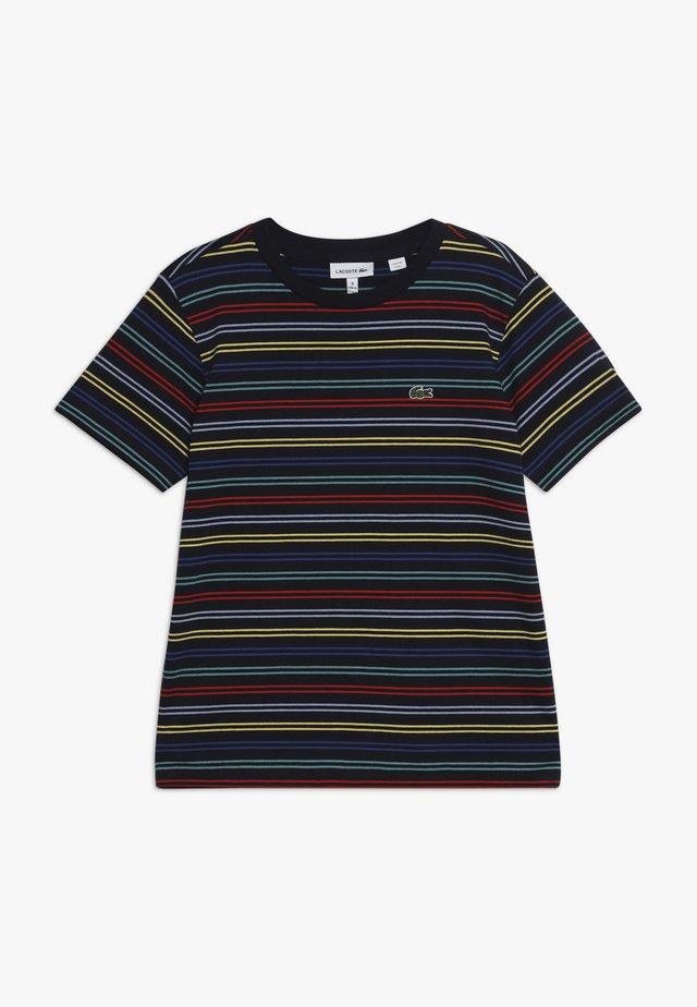 T-Shirt print - navy blue/multico