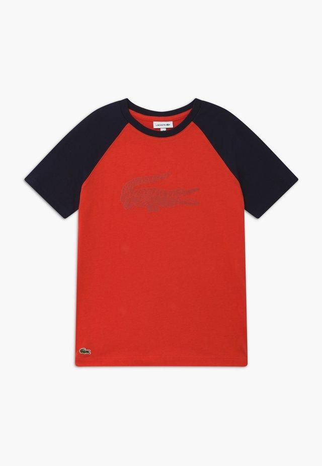 T-Shirt print - corrida/navy blue