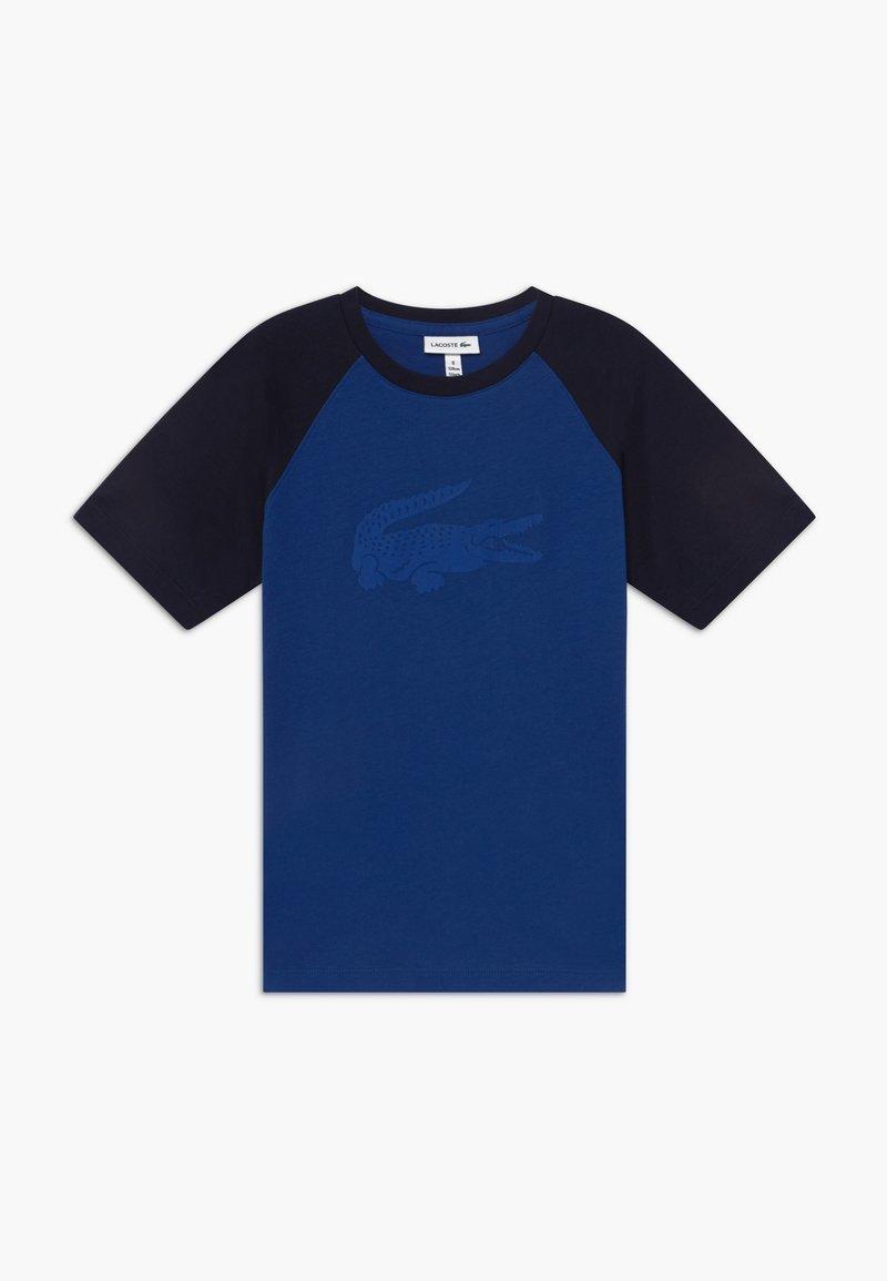 Lacoste - Print T-shirt - ionian/navy blue