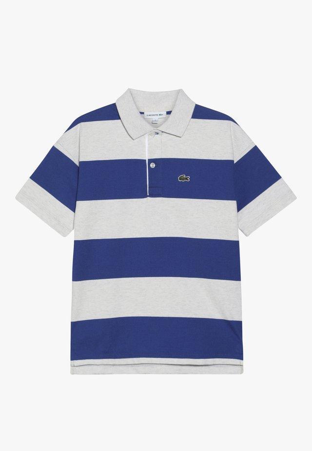 POLO - Poloshirt - alpes grey chine/ionian-white