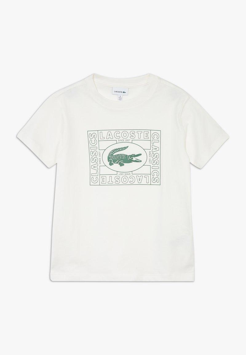 Lacoste - TEE - Print T-shirt - farine