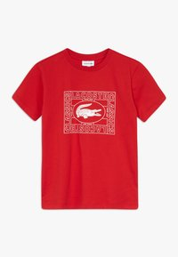 Lacoste - TEE - Print T-shirt - rouge - 0