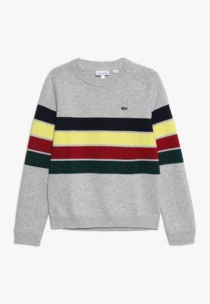Stickad tröja - argent chine/multicolor