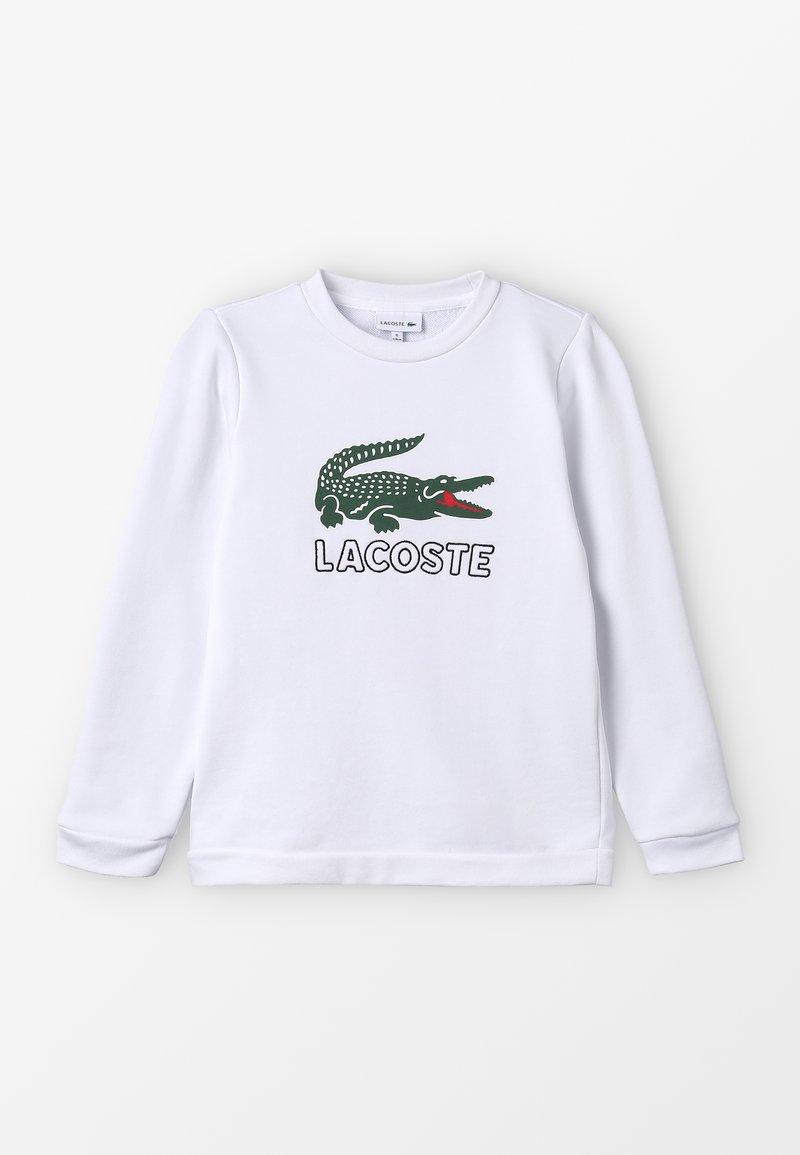 Lacoste - BOY LOGO - Sudadera - blanc
