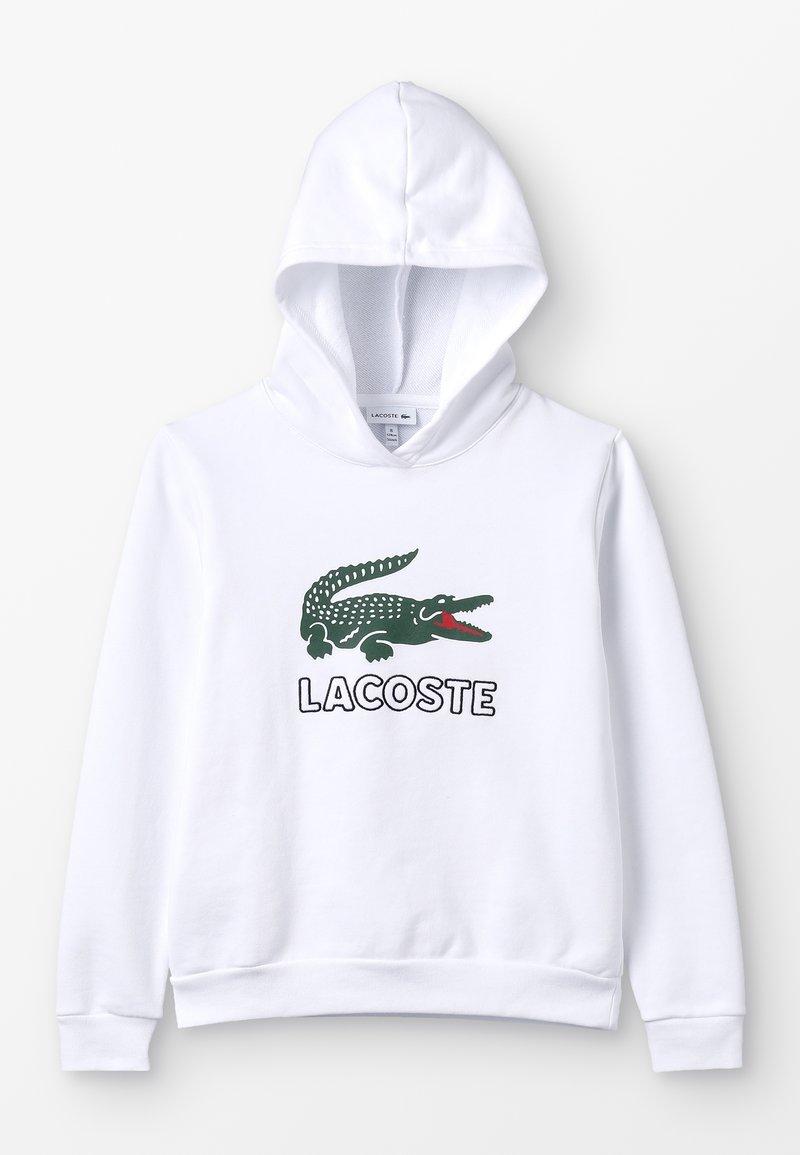 Lacoste - BOY LOGO HOODIE - Mikina skapucí - blanc