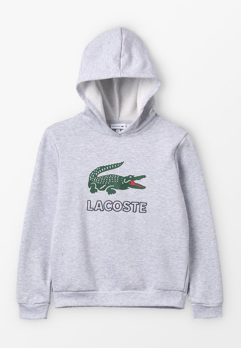Lacoste - BOY LOGO HOODIE - Jersey con capucha - argent chine