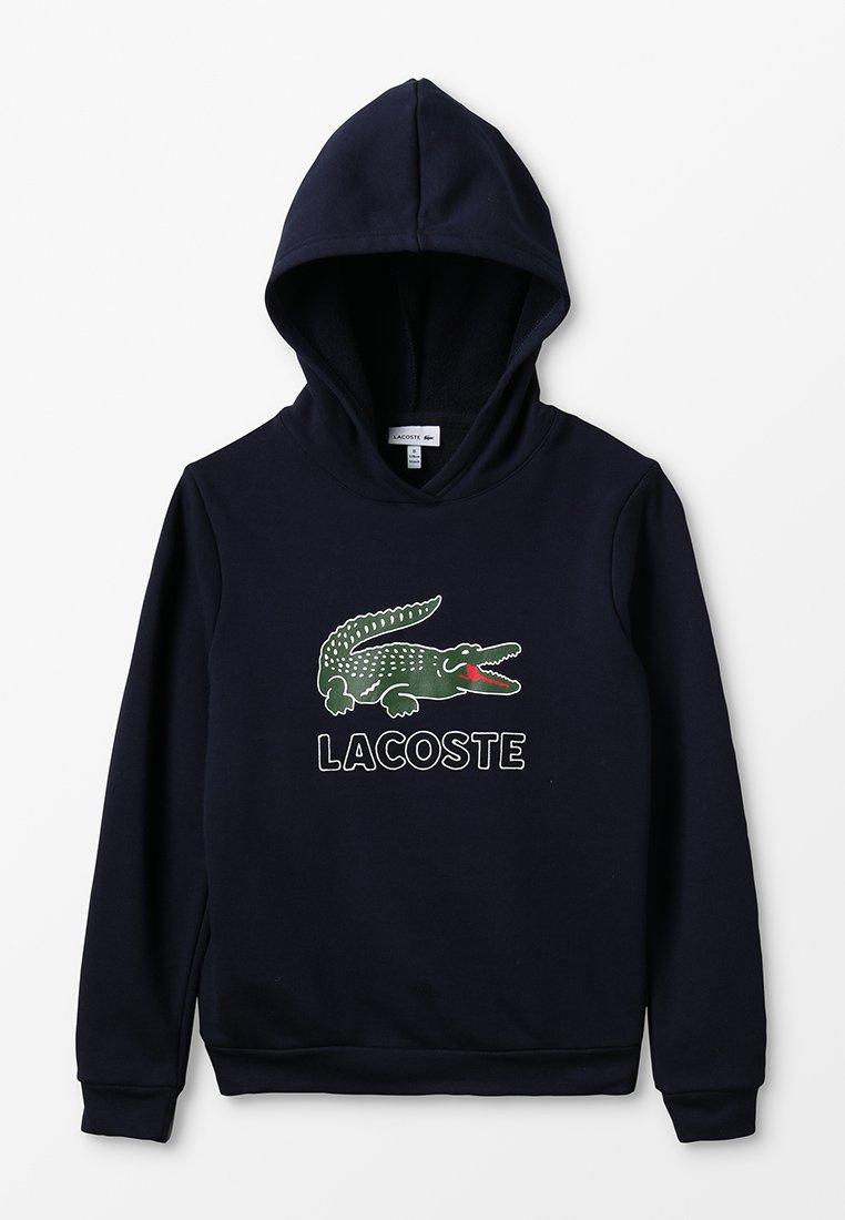 Lacoste - BOY LOGO HOODIE - Bluza z kapturem - marine