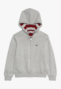 Lacoste - JACKET REVERSIBLE - Sweter - silver chine/bordeaux - 0