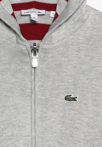 Lacoste - JACKET REVERSIBLE - Sweter - silver chine/bordeaux - 4