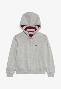 Lacoste - JACKET REVERSIBLE - Sweter - silver chine/bordeaux - 3