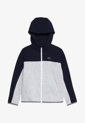 veste en sweat zippée - navy blue/silver chine