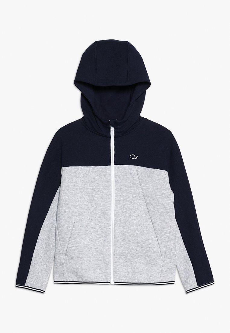 Lacoste - veste en sweat zippée - navy blue/silver chine