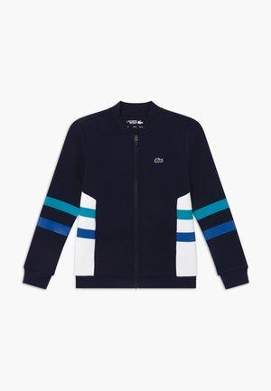 Mikina na zip - navy blue