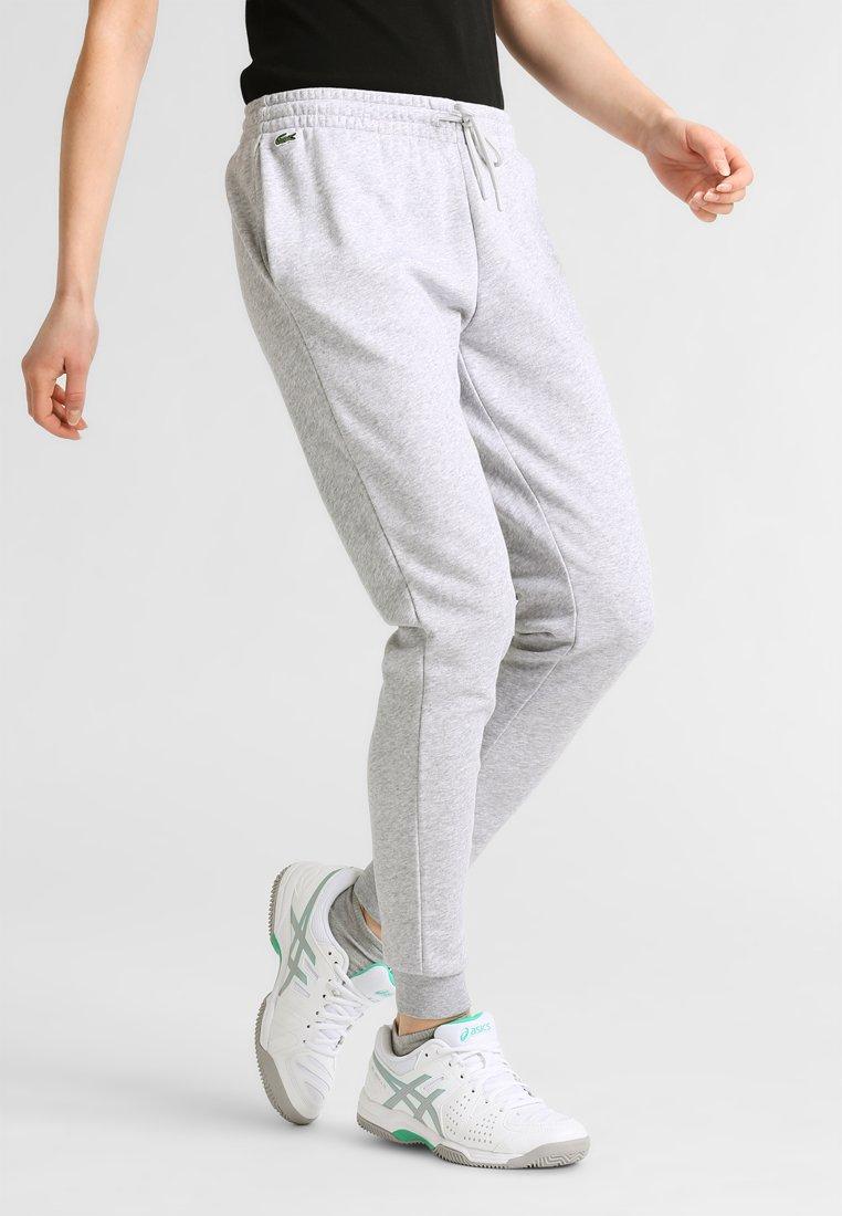 Lacoste Sport - WOMEN TENNIS TROUSERS - Pantalon de survêtement - silver chine