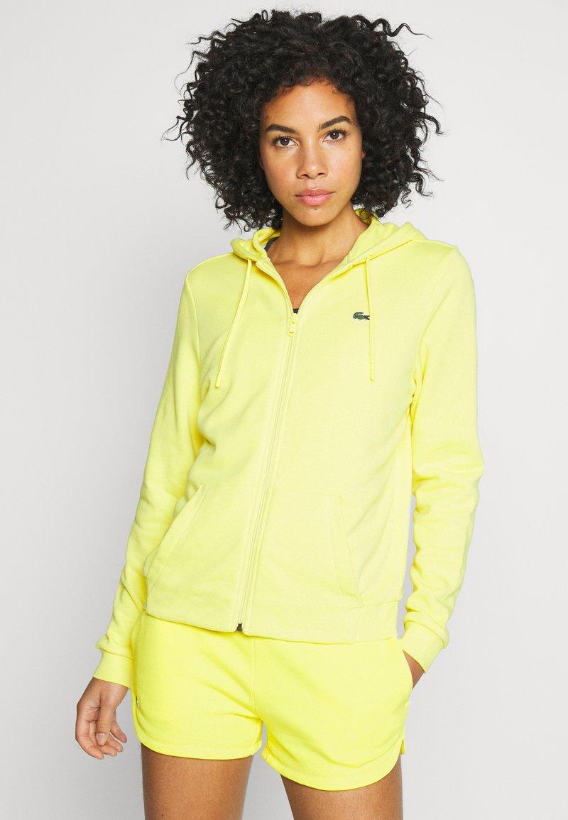 Lacoste Sport - WOMEN TENNIS - Felpa aperta - lemon/lemon
