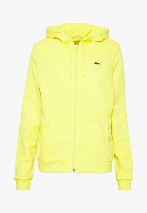 WOMEN TENNIS - Zip-up hoodie - lemon/lemon