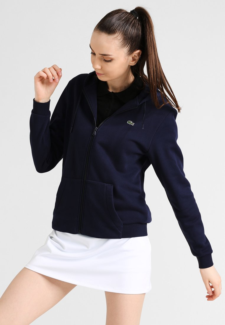 Lacoste Sport - WOMEN TENNIS - Zip-up hoodie - navy blue