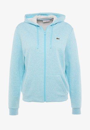 WOMEN TENNIS - Zip-up hoodie - light blue