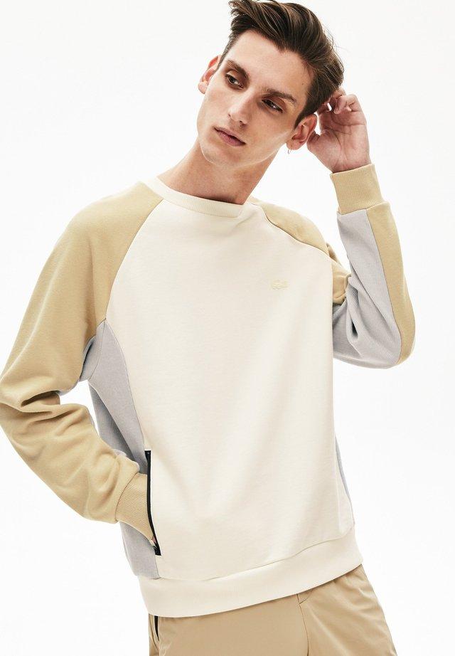 SH5158 - Sweatshirt - blanc / gris / beige