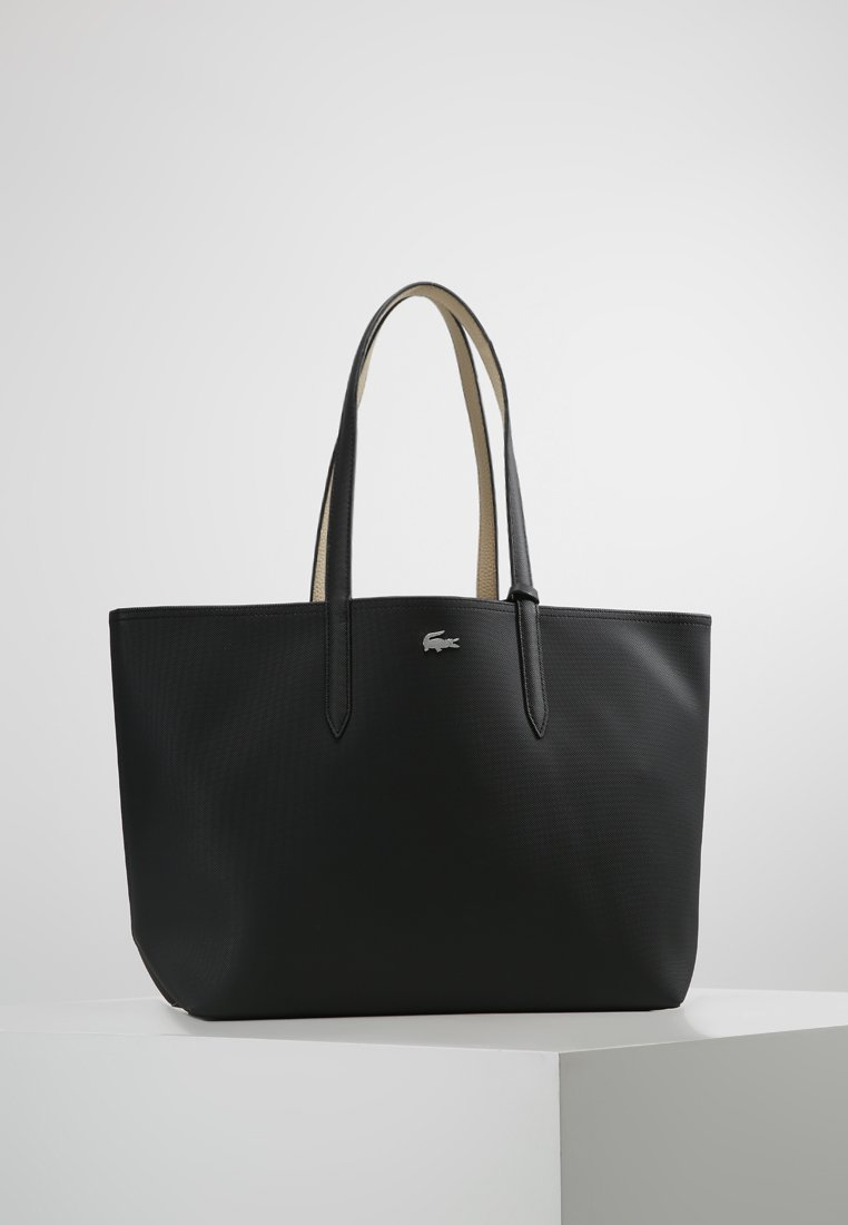 Lacoste - REVERSIBLE  - Shopping bag - black warm sand