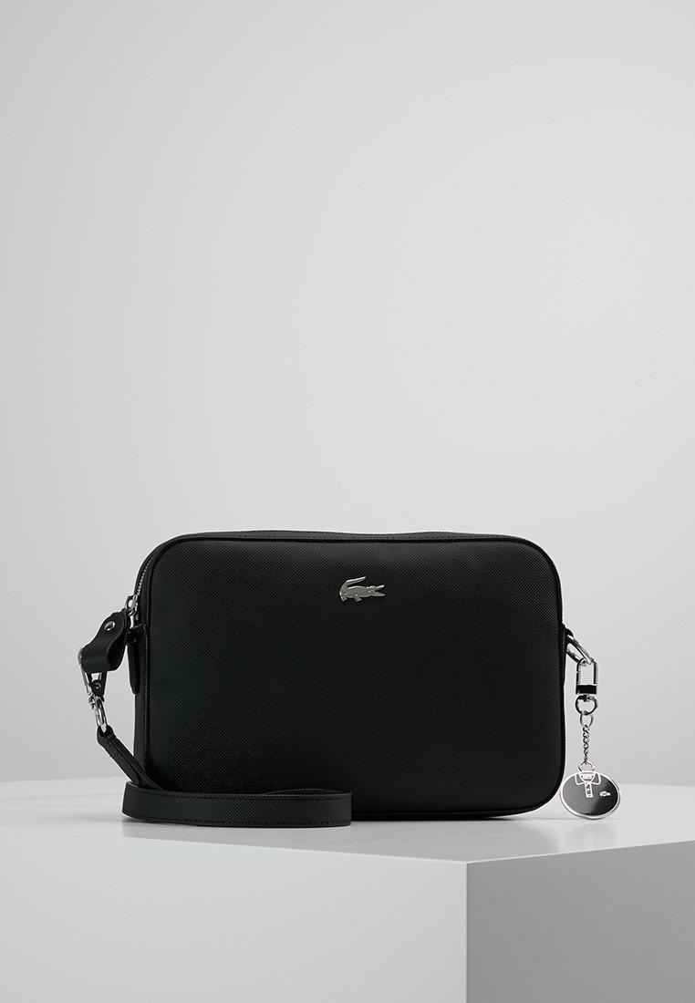 Lacoste - SQUARE CROSSOVER BAG - Across body bag - black