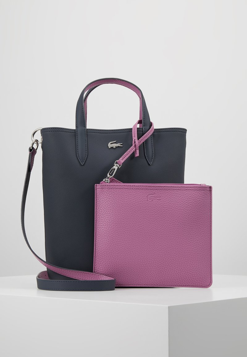 Lacoste - VERTICAL BAG SET - Handväska - ebony/orchid