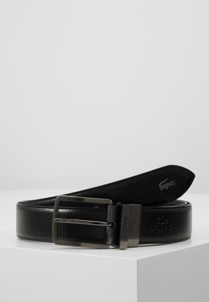 REVERSIBLE CURVED STITCHED EDGES - Cinturón - black